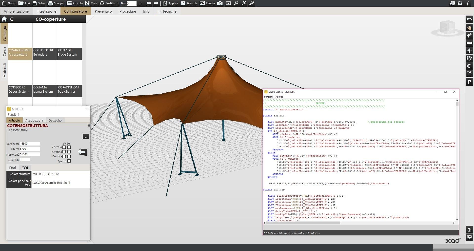 Implementazione di un configuratore 3D di prodotto.
